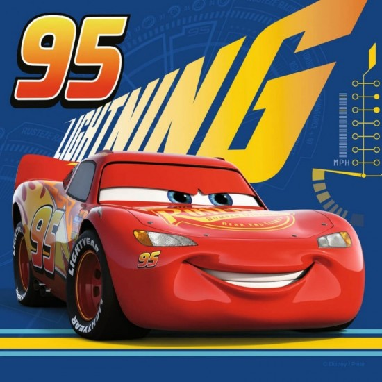 RAVENSBURGER MEMORY AND 3 PUZZLE CARS 3