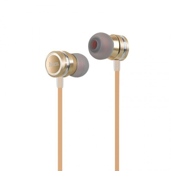 HOCO M16 LING SOUND METAL IN-EAR HANDSFREE 3.5mm ΜΕ ΜΙΚΡΟΦΩΝΟ ΧΡΥΣΟ