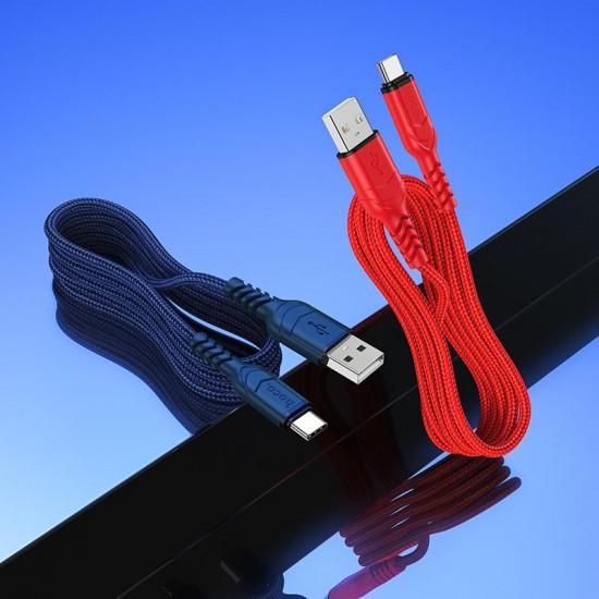 HOCO X59 VICTORY ΚΑΛΩΔΙΟ 2.4A USB ΣΕ TYPE-C ΚΟΚΚΙΝΟ 1m