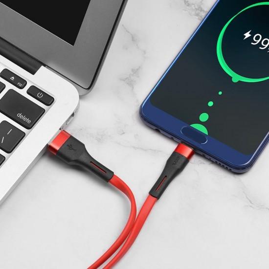 HOCO X34 SURPASS ALUMINIUM CONNECTORS 2.4A USB ΣΕ TYPE-C ΚΟΚΚΙΝΟ 1m