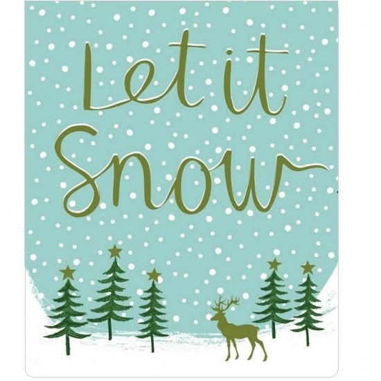 ΚΑΡΤΑ PETITE XMAS LET IT SNOW 14x11,5