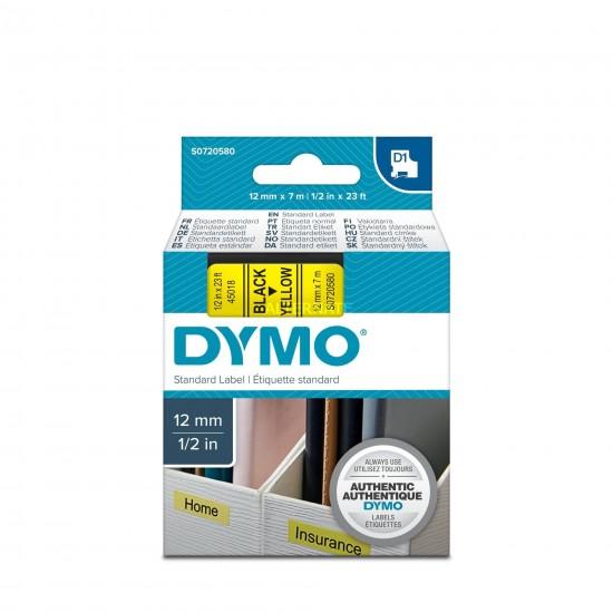 DYMO D1 ΕΚΤΥΠΩΤΙΚΗ ΤΑΙΝΙΑ 12mm Χ 7m BLACK ON YELLOW